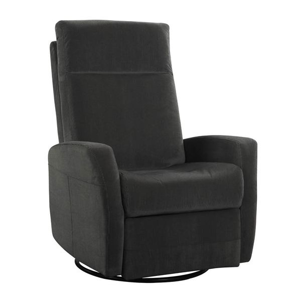 Emerald Home Lena Grey Swivel Glider Chair