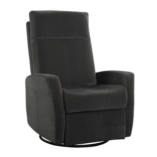 Lena Grey Swivel Glider Chair