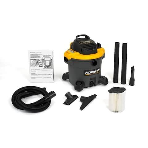 WORKSHOP WS1200VA 5.0 Peak HP, 12 gal. General Purpose Wet/Dry Vac - Black