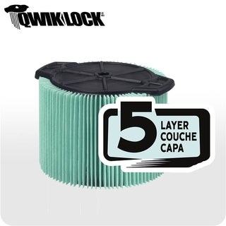 WORKSHOP WS13045F HEPA 3-4.5-gallon Media Cartridge Wet/Dry Vac Filter