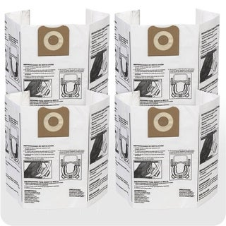 WORKSHOP WS32200F2 12 to 16-gallon 4-pack Wet/Dry Dust Collection Bag - White