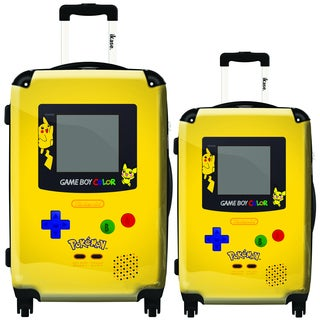 iKase Pokemon Game Boy 2-piece Hardside Spinner Luggage Set