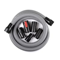 WORKSHOP WS17823A 1.875-inch x 10-Feet Contractor Hose for Wet Dry Vac - Black