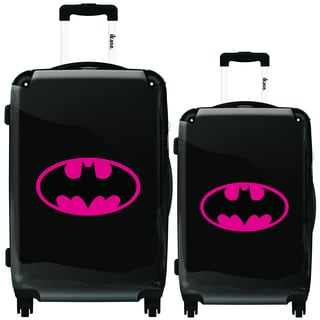 iKase Batman Pink Logo 2-piece Hardside Spinner Luggage Set