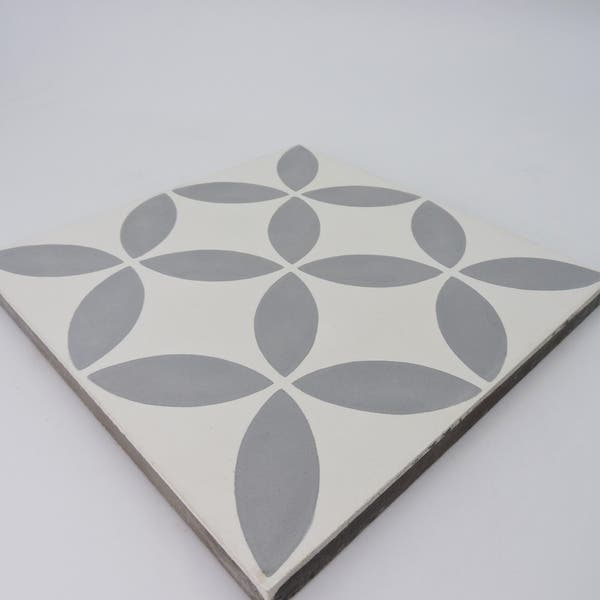 Shop Handmade Amlo In White Tile Pack Of 12 8 X 8