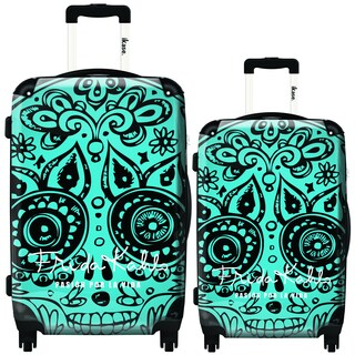 iKase Frida Kahlo Skull 2-piece Hardside Spinner Luggage Set