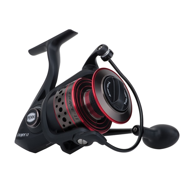 Penn Fierce II Spinning 2500 6.2:1 Gear Ratio 5 Bearings 7-pound Max Drag Ambidextrous Boxed Reel