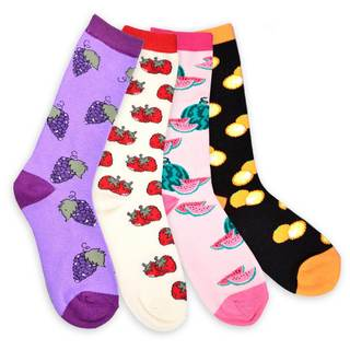TeeHee Women's Grape-Strawberry-Watermelon-Orange 4 Pk