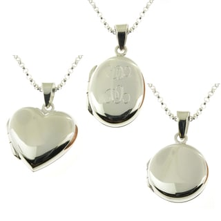 Handcrafted Sterling Silver Personalized Oval Locket Necklace (Thailand)