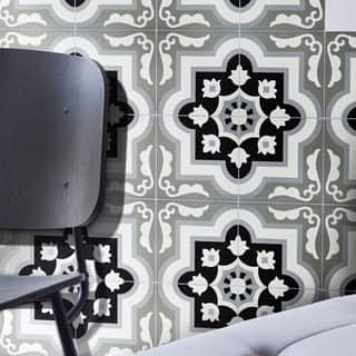 Taza Black and Grey Handmade Moroccan 8 x 8 inch Cement and Granite Floor or Wall Tile (Case of 12)|https://ak1.ostkcdn.com/images/products/10878712/P17915162.jpg?impolicy=medium