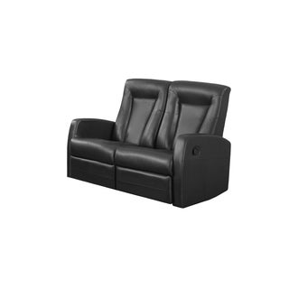 RECLINING - LOVESEAT BLACK BONDED LEATHER