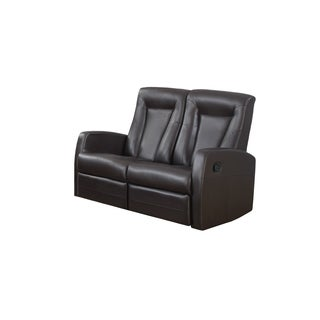 RECLINING - LOVESEAT BROWN BONDED LEATHER