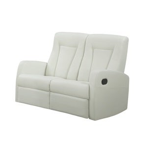 Reclining-Loveseat Ivory Bonded Leather