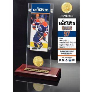 Connor McDavid Ticket & Bronze Coin Acrylic Desk Top