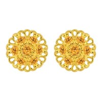 Lucia Costin Sterling Silver Yellow Crystal Earrings