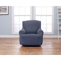 Home Fashion Designs Lucia Collection Corduroy Form Fit Chair Slipcover