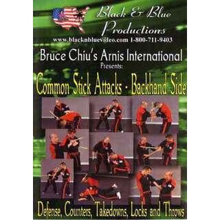 Arnis Stick Attacks Backhand Side DVD Chiu filipino martial arts abanico