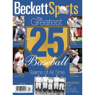25 Greatest Major League Baseball Teams of All Times Special Edition Magazine ML AL yankees reds dodgers