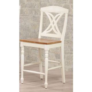 Iconic Furniture Butterfly Back Antiqued Caramel Biscotti 24-inch Counter Stool