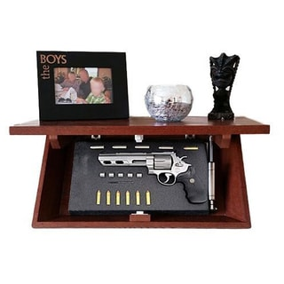 Floating Decorative Wall Shelf with Hidden Locking Security Compartment