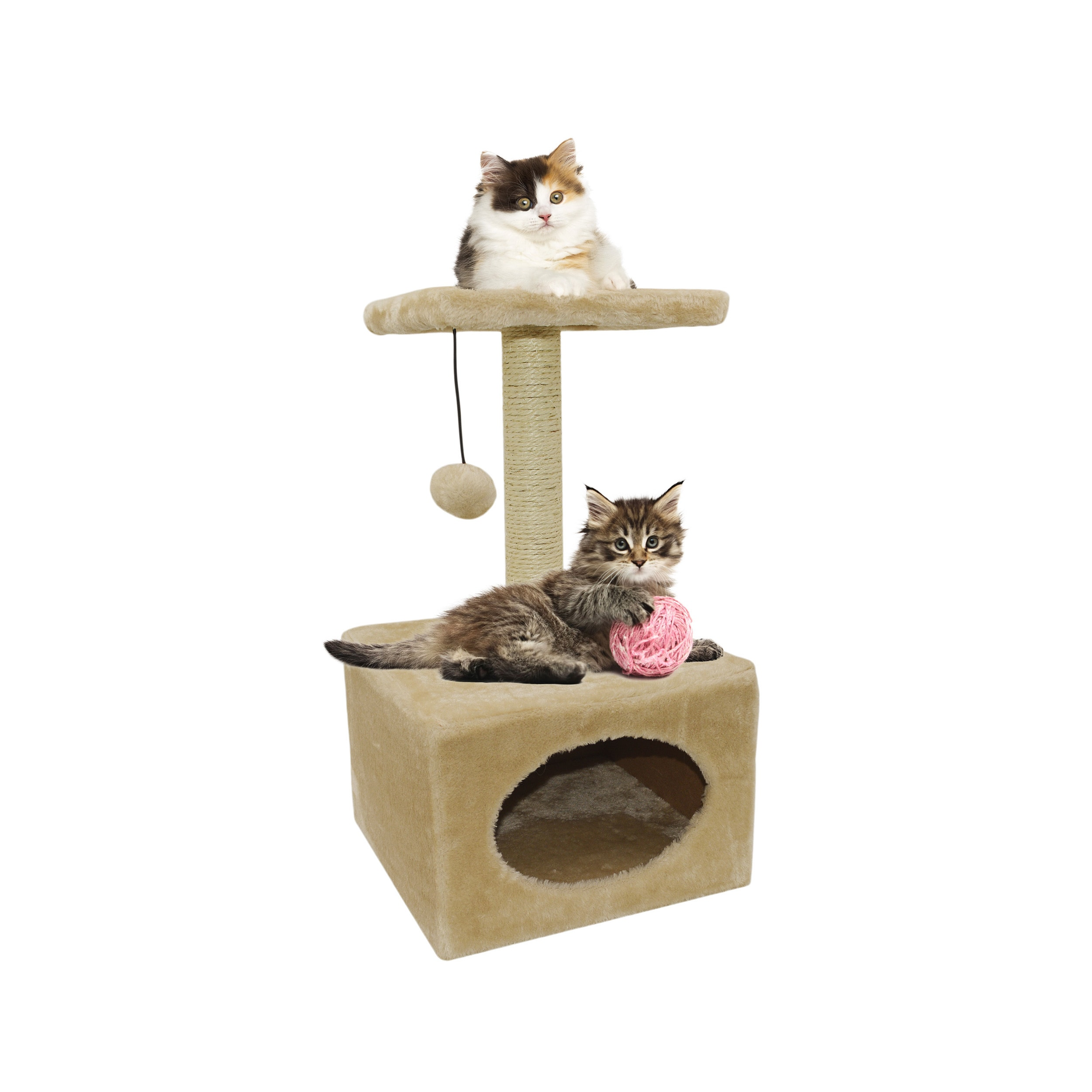 CAT Playground Cat Tree (Cream), Beige Off-White