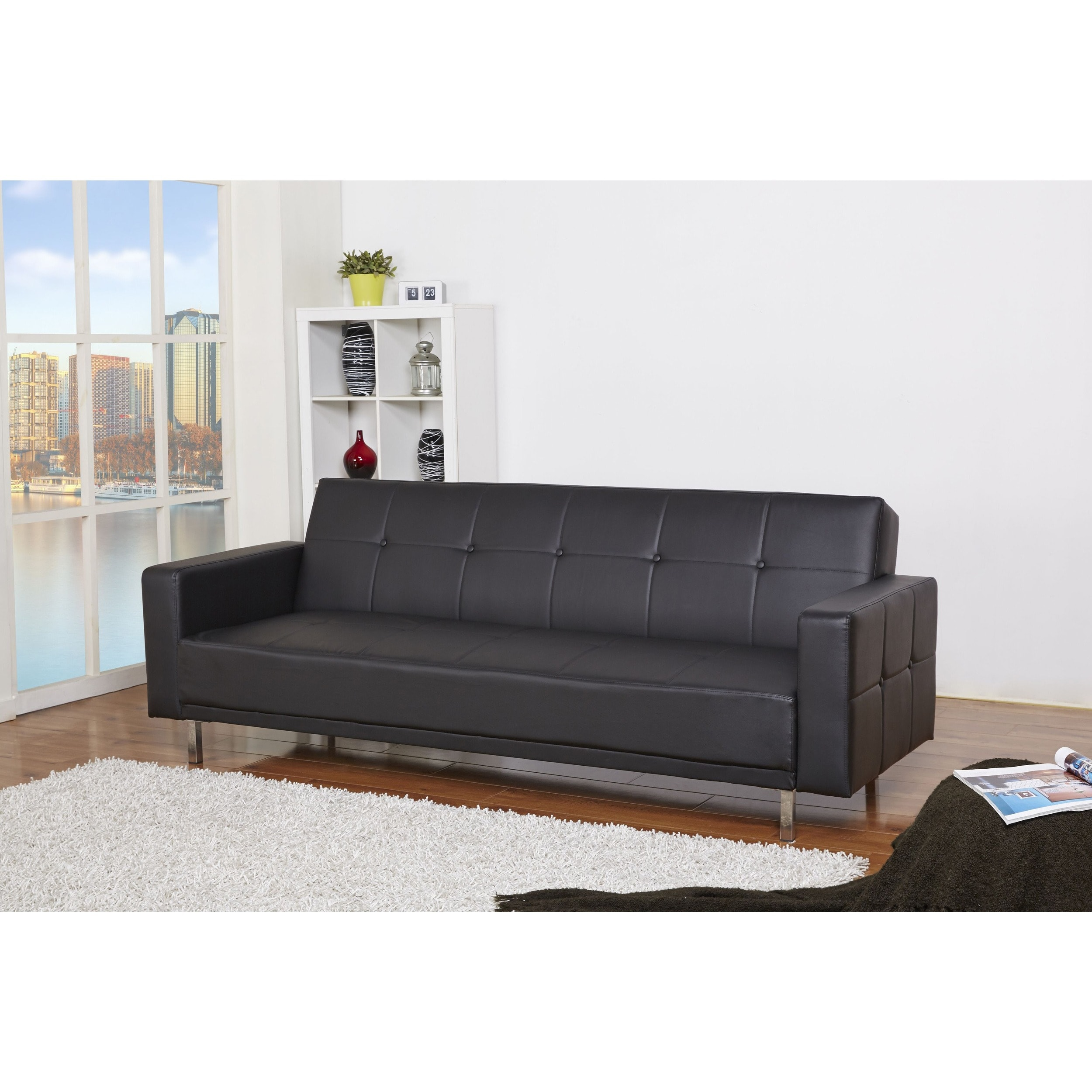 Gold Sparrow Cleveland Black Convertible Sofa Bed