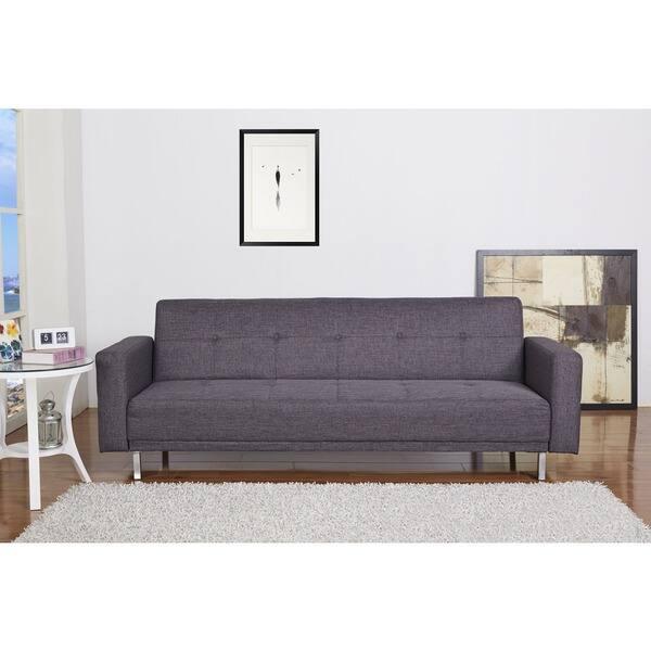 Dark Gray Convertible Sofa Bed