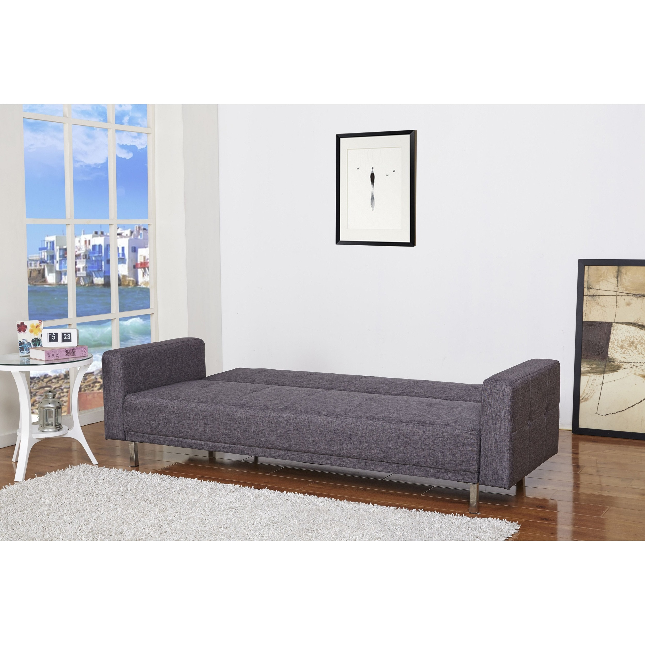 Awesome Cleveland Dark Gray Convertible Sofa Bed Short Links Chair Design For Home Short Linksinfo