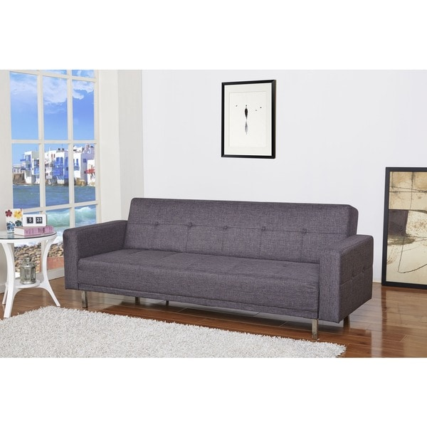 cleveland dark gray convertible sofa bed
