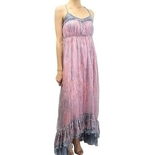 Relished Women's Diaphanous Coral Maxi Dress