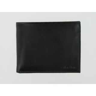 Calvin Klein Men's Black Leather Billfold Wallet
