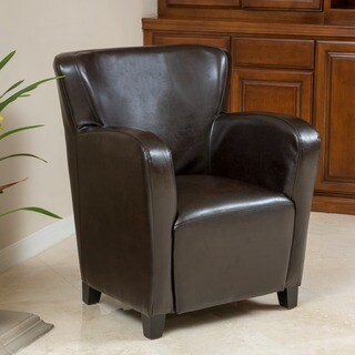 Angelo Bonded Leather Wingback Club Chair by Christopher Knight Home & Carter Wing-Back Bonded Leather Recliner Chair by Christopher ... islam-shia.org