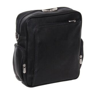 Piel Leather Urban 11-inch Vertical Messenger Bag