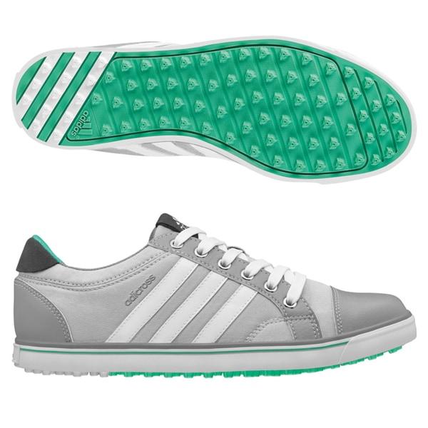 Adidas Women's Adicross IV Clear Grey/ Mid Grey/ Bright Green Golf Shoes