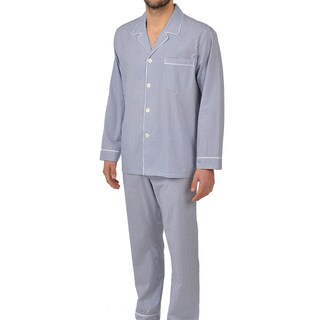 Majestic Men's Big and Tall Cotton Basics Longsleeve Pajama Set