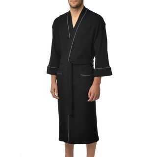 Majestic Unisex Waffle Knit 48-Inch Lounge Kimono Robe