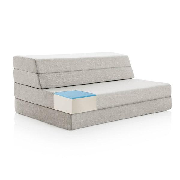 LUCID 4 Inch Gel Memory Foam Folding Mattress/ Sofa