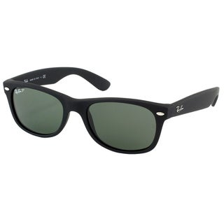 Ray Ban Unisex RB 2132 New Wayfarer 622/58 Rubber Black Plastic Sunglasses-55mm