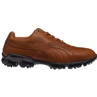 Puma Men's TitanTour Mustang Brown Golf Shoes|https://ak1.ostkcdn.com/images/products/10878921/P17915343.jpg?impolicy=medium