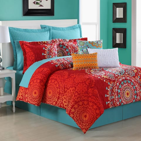 Cozumel Medallion 4-piece Comforter Set by Fiesta