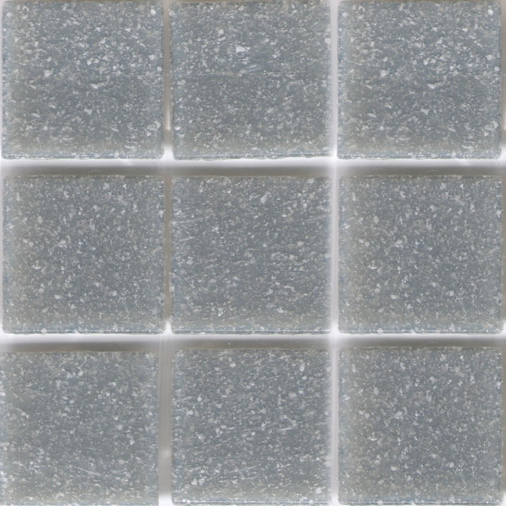 Modwalls Solid Cement Grey Brio 3/4-inch Glass Mosaic Til...