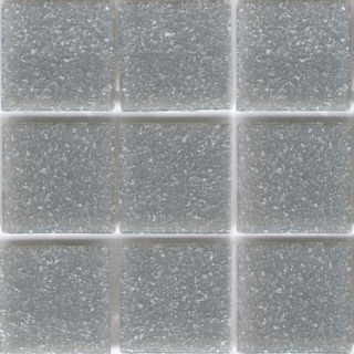 Solid Cement Grey Brio 3/4-inch Glass Mosaic Tile
