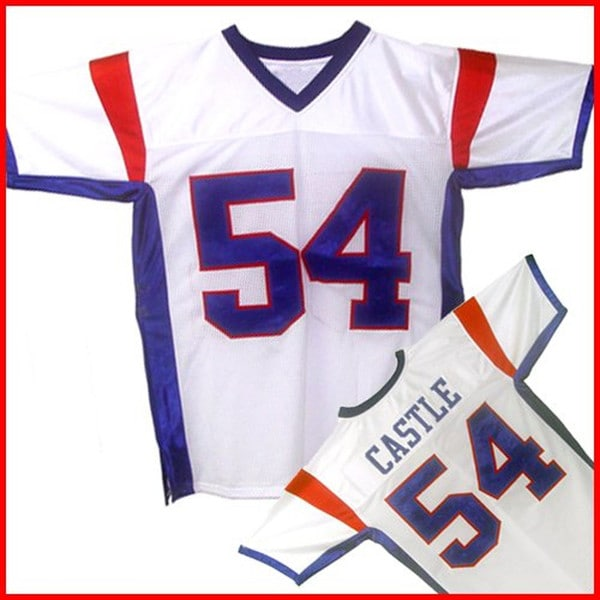 1a7a8852c Shop Thad Castle  54 Blue Mountain State Men s White Football Jersey - Free  Shipping Today - Overstock - 10878961