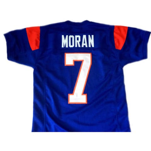 Alex Moran #7 Blue Mountain State Football Blue Jersey Men's Adult Costume