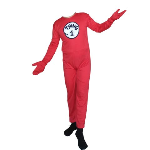 Thing 1 Cat in The Hat Youth Body Suit Lycra Spandex Kids Unisex Costume