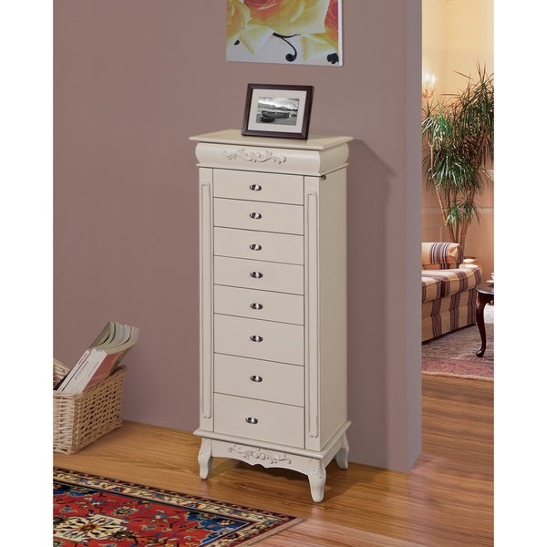 Morre 8drawer Jewelry Armoire Free Shipping Today Overstockcom