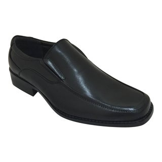 Men's Black Slip On Oxford Dress Shoe
