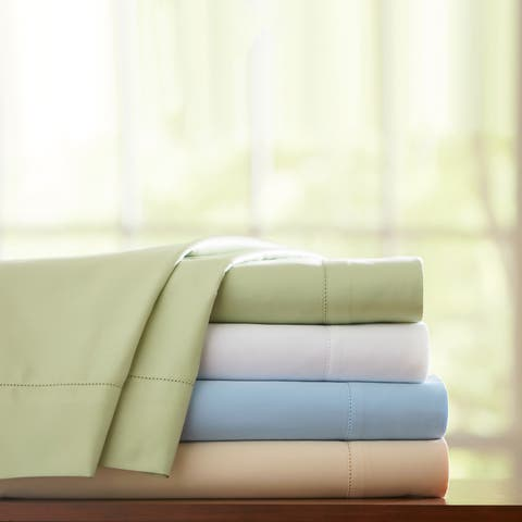 Pointehaven Pima Cotton 800 Thread Count Hemstitch Pillowcases (Set of 2)