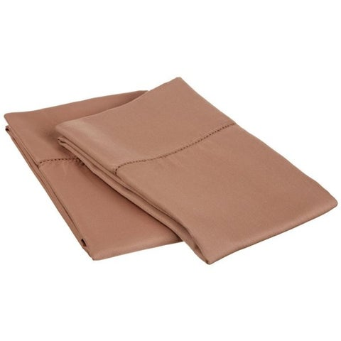 Superior 600 Thread Count Hem Stitch Cotton Blend Pillowcases (Set of 2)