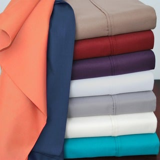 Superior Cotton Blend 800 Thread Count Wrinkle-resistant Solid Pillowcases (Set of 2)